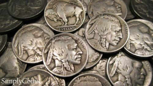 1925 Indian Head Buffalo Nickel Roll ~ Partial Dates ~ Coin Lot 40
