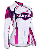 Womens Outdoor Road Bike Cycling Clothing Long Sleeve Jersey Tops Quick Dry S-xl