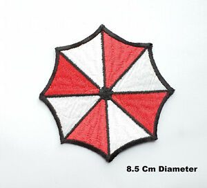 Resident-Evil-Umbrella-Corporation-Embroidered-Iron-Sew-On-T-Shirt-Patch-Badge