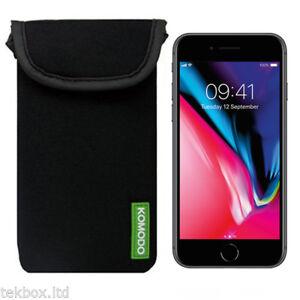 Komodo-Apple-iPhone-8-Black-Neoprene-Phone-Pouch-Sock-Cover-Case