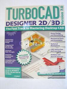 TurboCad Designer 2D/3D Version 7.0 Vintage Windows CAD Software