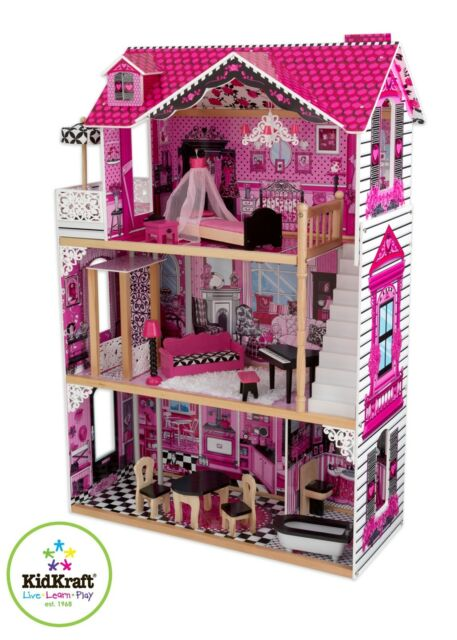 "Amelia Dollhouse by Kidkraft ideal for 12"" dolls (such as Barbie's)"