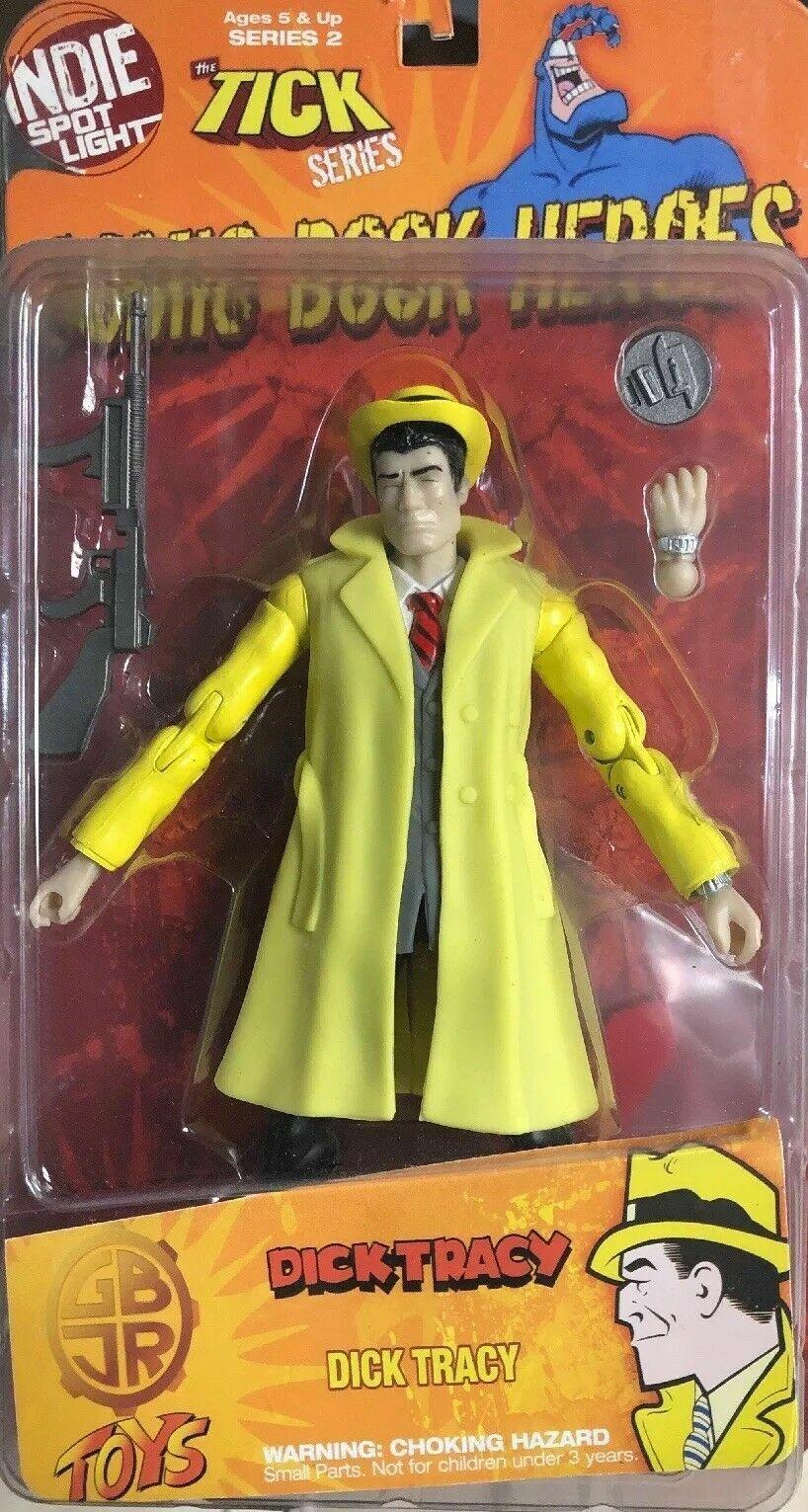 Indie Spotlight DICK TRACY Tick Shocker GBJR Toys 2009 Comic Gelb Variant A8