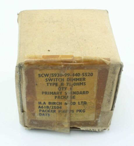 Dimmer Switch R 75Ω 5CW//5930-99-440-5520 Variable Resistor Avro Vulcan Aircraft