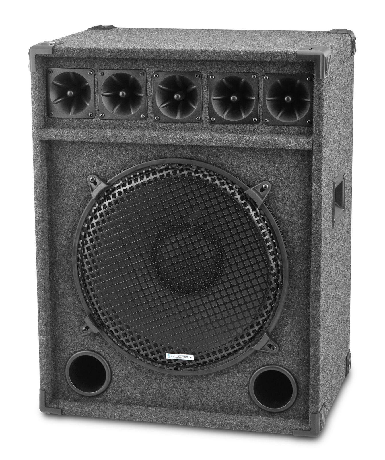 15  (38cm) DJ PA altavoces club club club Bass subwoofer fiesta box speaker 600 vatios  tiempo libre