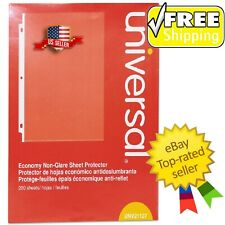 Universal Top Load Poly Sheet Protectors Nonglare Economy Letter 200box