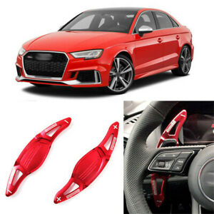 Alloy-DSG-Steering-Wheel-Paddle-Extension-Shifters-Cover-Fit-For-Audi-RS3-17-18