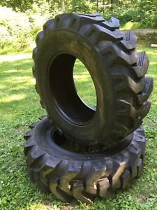 2-NEW-16-9-28-Solideal-Backhoe-Tires-R4-HEAVY-DUTY-12-PLY-16-9X28