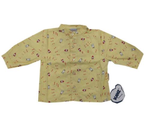 Libel Oberhemd Chemise manches longues jaune 100/% de Garçons Bébé Coton Taille 62 NEUF!!!