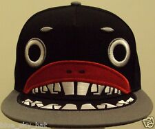 CARTOON MONSTER MOUTH ANIME ANIMATION HIP HOP FASHION PUNK SNAPBACK CAP HAT BLK