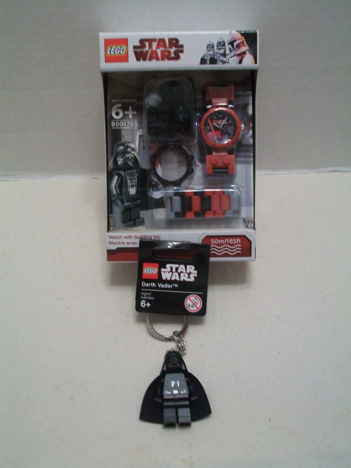Lego Star Wars Darth Vader Watch And Key Chain Bundle 2 NIB 2003-2010