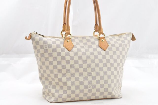 94625dc1ffa1 Authentic Louis Vuitton Damier Azur Saleya MM Shoulder Tote Bag N51185 LV  64667