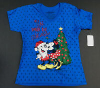 Disney Store Tee For Women Mickey And Minnie Holiday T Shirt Choose Size