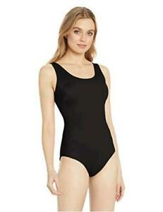 Essentials-Women-039-s-One-Piece-Coverage-Swimsuit-Black-Size-X-Large
