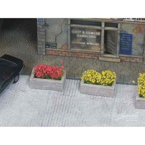 Juweela 28247 Ho 1//87 Dekor Bac Aus Blumen Holz 5 Teile aus Keramik Ho