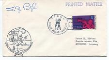 1971 Deep Freeze Staten Island Circumnav. Antarctica WAGB-278 Polar Cover SIGNED