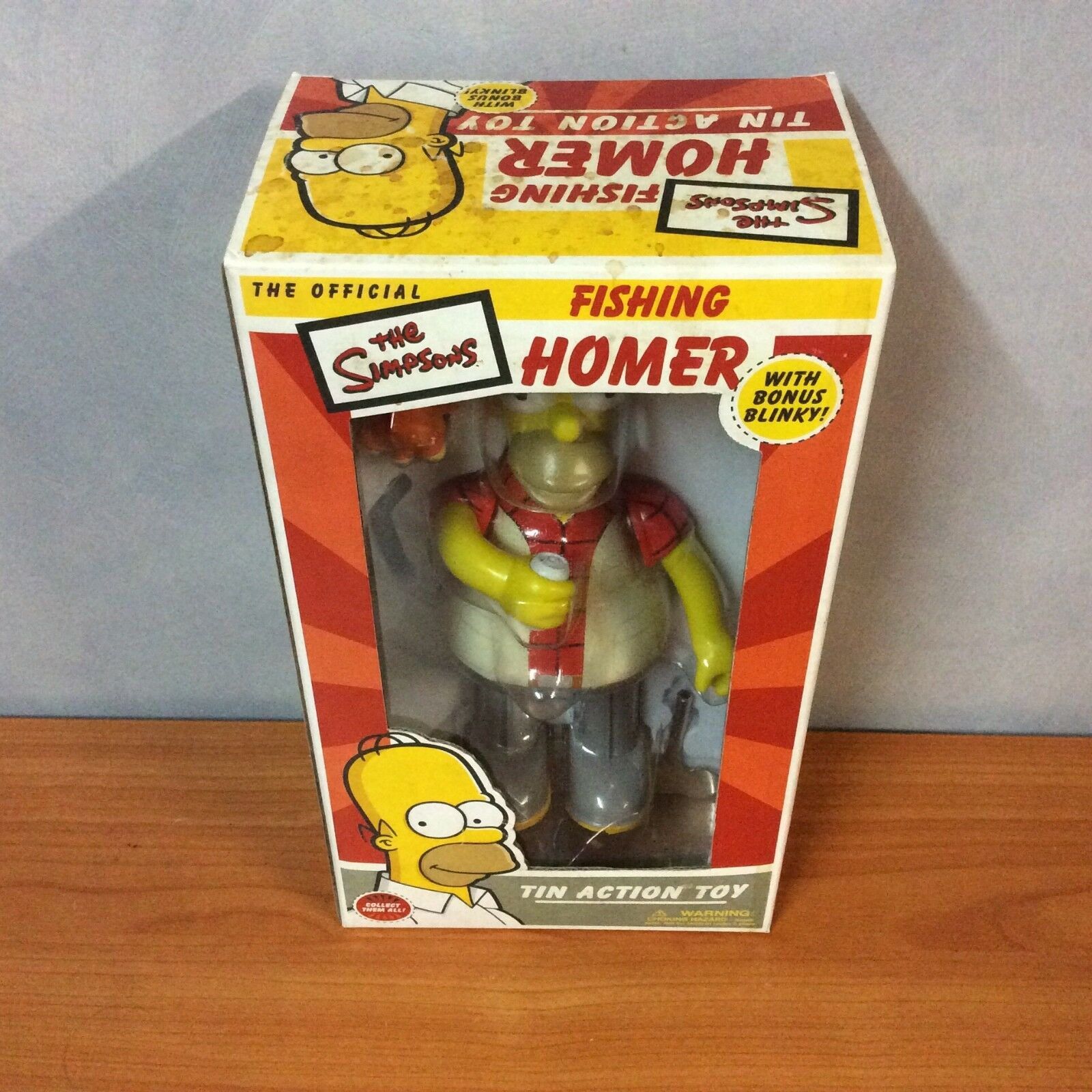 2003 The The The Simpsons Fishing Homer Tin Action Toy w  Bonus Blinky  - New aff1bf