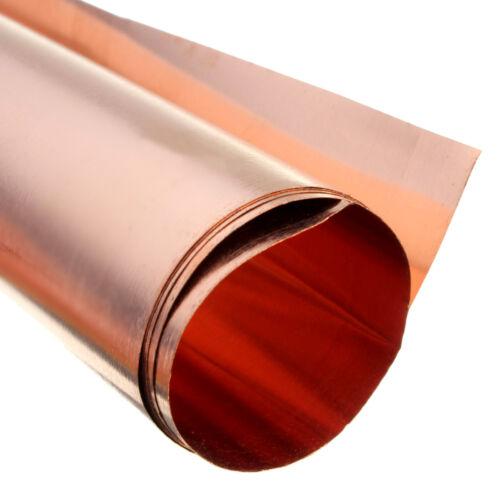 5PC 99.9/% Pure Copper Cu Metal Sheet Foil 0.1x100x100MM For Handicraft Aerospace