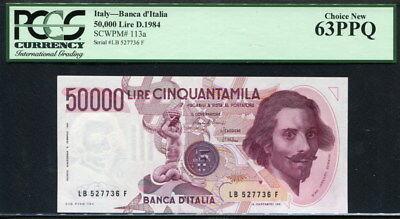 F 113a 50,000 1984 P-113 Italy 50000 Lire D
