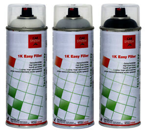 CAR SYSTEM 1K Easy Filler Dickschicht Füller Grundierung grau 400 ml Spot Repair