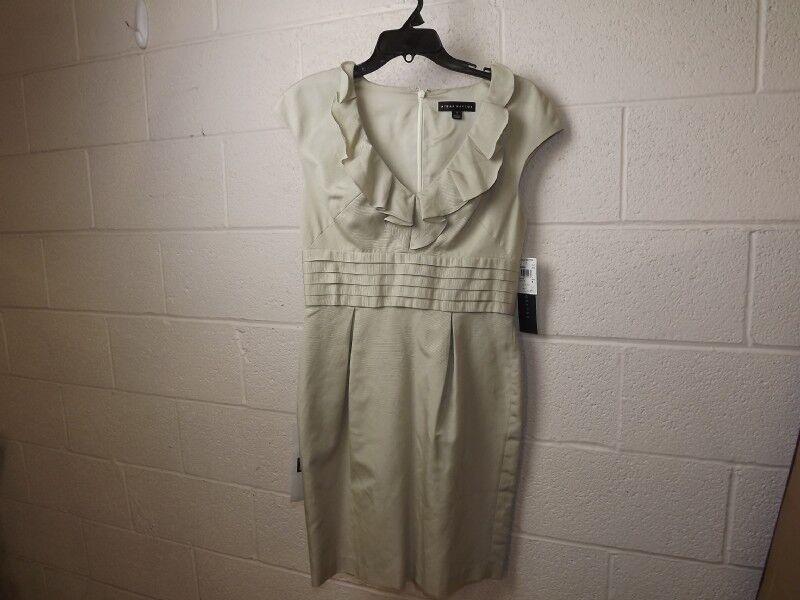 NWT  250  Aidan Mattox Women's Ivory Twill Tank Dress Sz 8