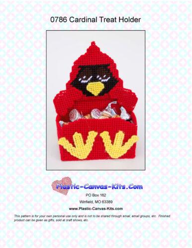 Plastic Canvas Pattern or Kit Cardinal Treat Holder