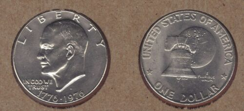 1976-D TYPE 1 UNCIRCULATED  EISENHOWER DOLLAR IKE