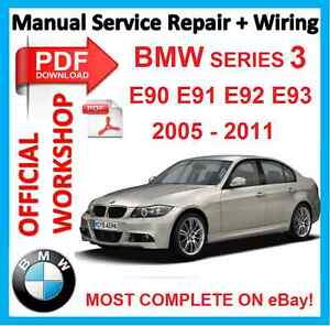 official workshop manual service repair bmw series 3 e90 e91 e92 e93 2005 2. Black Bedroom Furniture Sets. Home Design Ideas