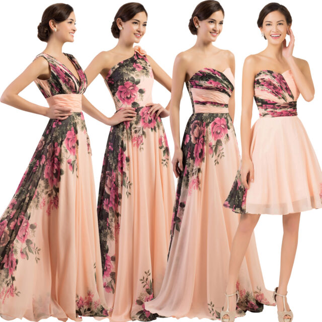 Long Short FORMAL Evening Ball Gown Party Prom Bridesmaid Wedding COCKTAIL Dress