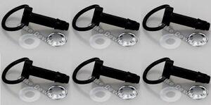 6-pack-D-RING-DZUS-24MM-ALUMINIUM-QUICK-RELEASE-FAIRING-FASTENER-BOLT-BLACK