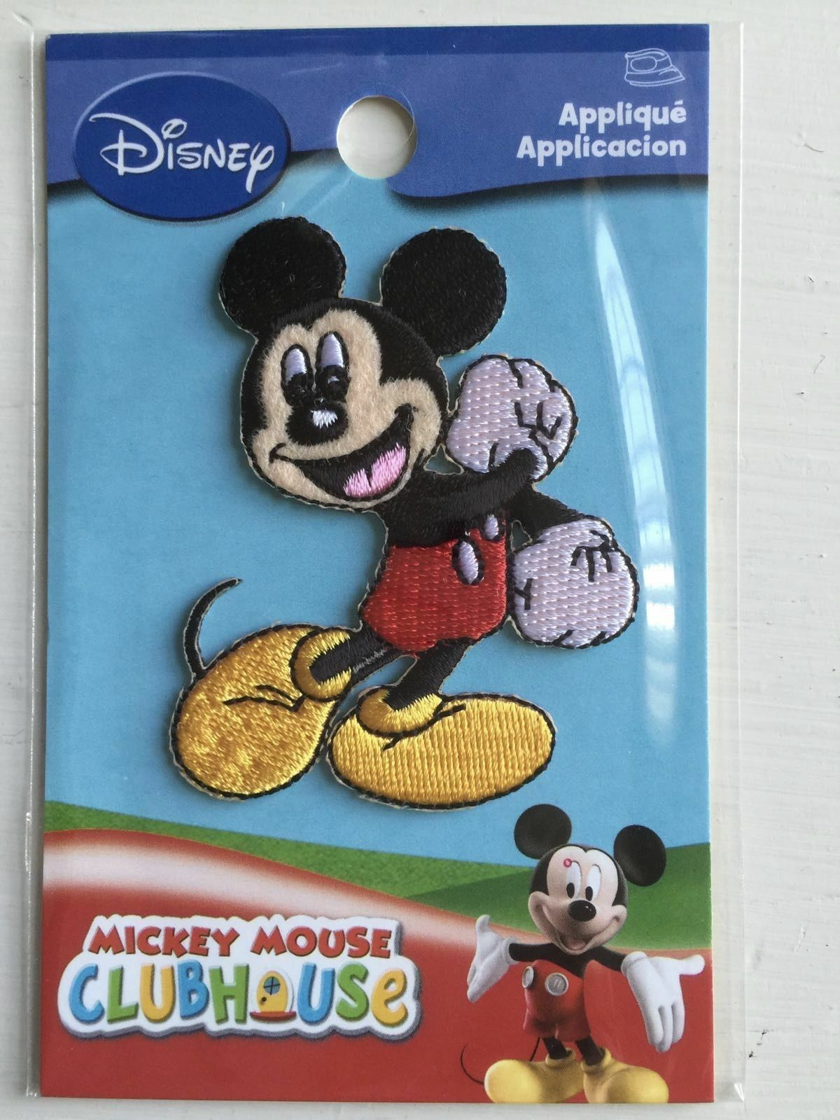 MINNIE MOUSE DISNEY MICKY MOUSE CLUBHOUSE OFFICIAL IRON ON APPLIQUE MOTIF