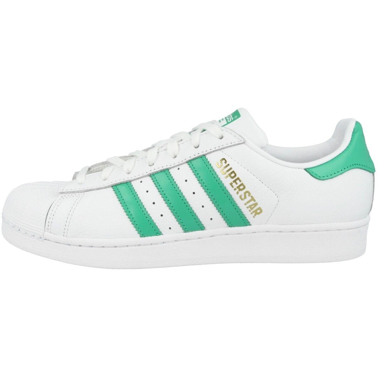 Adidas Superstar Schuhe Herren Retro Freizeit Turnschuhe Weiß Grün Gold B41995