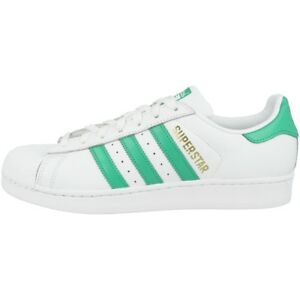 Details about Adidas Superstar Shoes Mens Retro Casual Trainer White Green Gold b41995 show original title