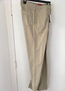 ROBERT GRAHAM 34//34  SLIM JIM /'JEANO-3  Woven PANTS//JEANS $188 KHAKI NWT