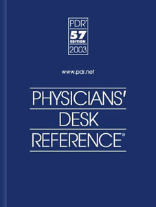 Physicians Desk Reference Book Pdr 57 Edition 2003 Hardcover