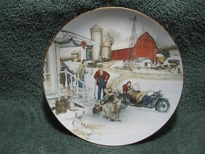 1993-HARLEY-DAVIDSON-034-CHRISTMAS-VACATION-034-Limited-Edition-NOS-Collector-Plate
