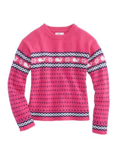 29O NWT Vineyard Vines Girls Whale Isle Relaxed Crewneck Sweater $65