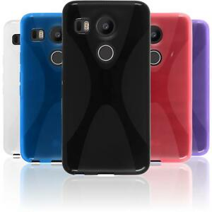 new product 1a837 0c0ac Details about Silicone Case for Google Nexus 5X X-Style + protective foils