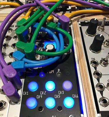 """4 White Luigi/'s Modular Supply /""""Spaghetti/"""" Eurorack 36/"""" Patch Cables"""
