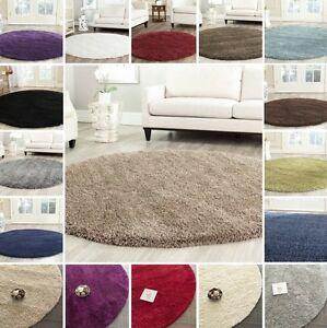 4 Round Shag Area Rug 4 Ft Carpet Rugs Solid High Density