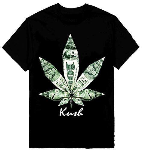 Kush Mens Heavyweight T-Shirt Weed Marijuana Money Printed On Shaka Wear Tee