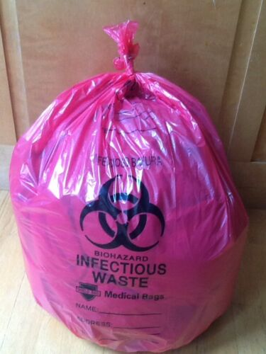 Lot of 10-15 Gallon Biohazard Infectious Waste Medical Bags Pandemic Prepper