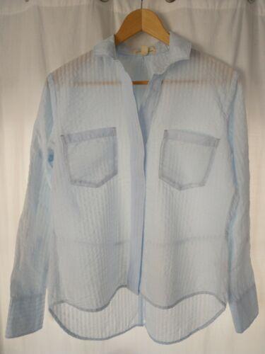 Medium Size Shirt Button Down Shirt Lyocell Blue Shirt 90s JOOP Blue Designer Shirt Striped Summer Shirt Long Sleeve Blouse