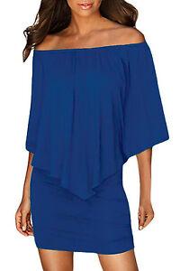 Royal Shoulder Mini Off The piccolo abito blu Clubwear 22820 Draped Cocktail EqW6RAwx