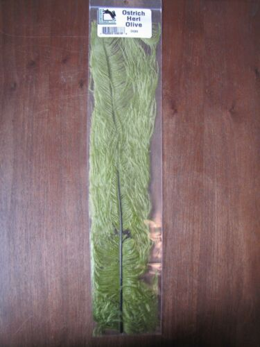 """Olive Fly Tying-Hareline 10-12/"""" Ostrich Herl"""
