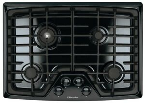 New electrolux 30 quot black gas cook top cooktop stovetop ew30gc55gb