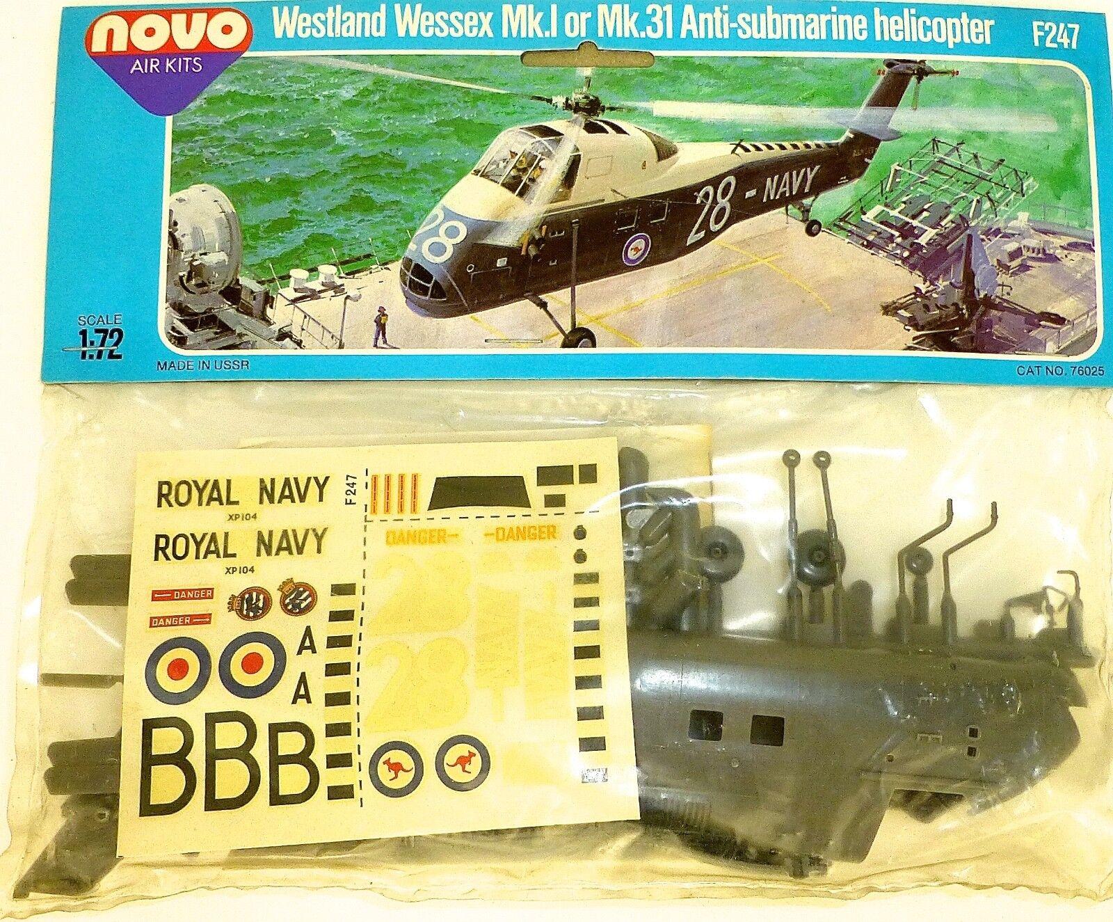 Westland Wessex Mk.i 31 Anti Sous-Marin Hélioptère F247 Novo 78025 1 72