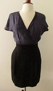 Womens-BANANA-REPUBLIC-Blue-amp-Black-Career-Sheath-Dress-Size-4P-F26