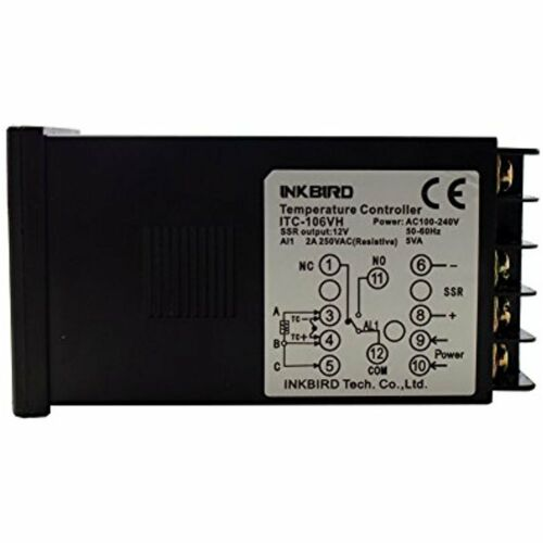 Fahrenheit /& K For ITC-106VH Temperature Controllers PID Thermostat Controllers