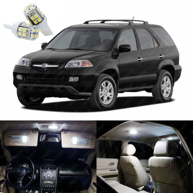 19 X Xenon White LED Interior Lights Package Kit Deal For Acura MDX 2001